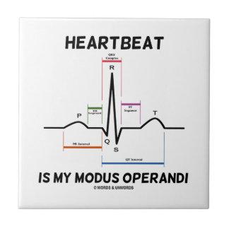 Heartbeat Is My Modus Operandi (Electrocardiogram) Tiles