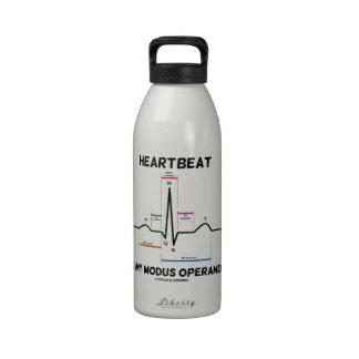 Heartbeat Is My Modus Operandi (Electrocardiogram) Water Bottle