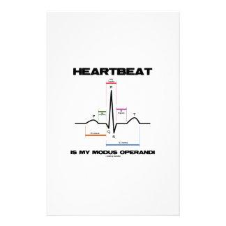 Heartbeat Is My Modus Operandi Sinus Rhythm Customized Stationery