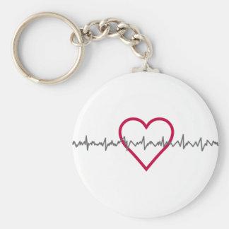 Heartbeat Key Ring
