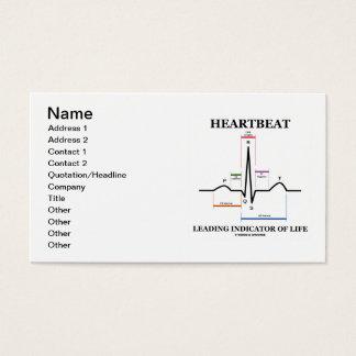 Heartbeat Leading Indicator Of Life (ECG/EKG) Business Card