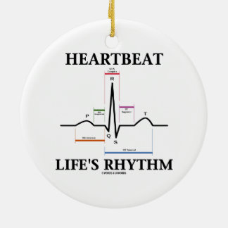 Heartbeat Life's Rhythm (ECG/EKG) Christmas Tree Ornaments