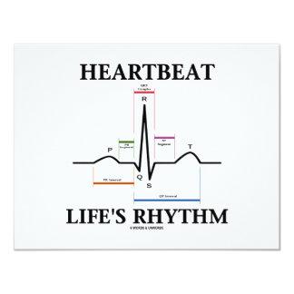 Heartbeat Life's Rhythm (ECG/EKG Heartbeat) Card