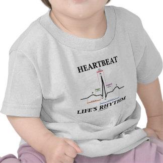Heartbeat Life's Rhythm (ECG/EKG Heartbeat) T Shirts