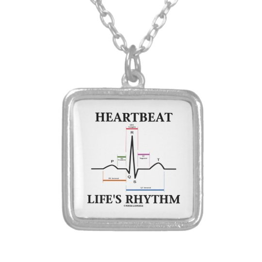 Heartbeat Life's Rhythm (ECG/EKG) Silver Plated Necklace