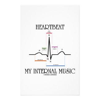 Heartbeat My Internal Music (ECG/EKG Heartbeat) Stationery Paper