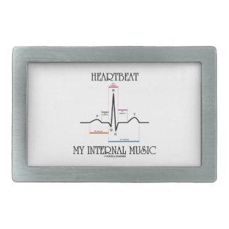 Heartbeat My Internal Music (Electrocardiogram) Rectangular Belt Buckle
