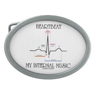 Heartbeat My Internal Music (Electrocardiogram) Oval Belt Buckles