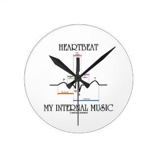 Heartbeat My Internal Music (Electrocardiogram) Wall Clock