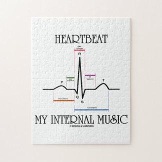 Heartbeat My Internal Music (Electrocardiogram) Jigsaw Puzzle