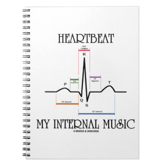 Heartbeat My Internal Music (Electrocardiogram) Notebook