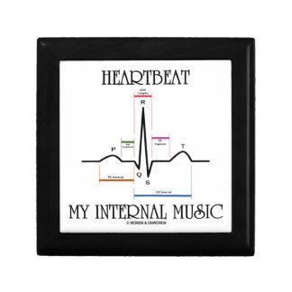 Heartbeat My Internal Music (Electrocardiogram) Small Square Gift Box