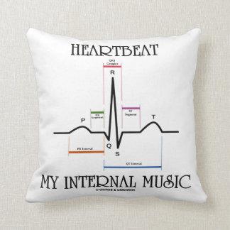 Heartbeat My Internal Music (Electrocardiogram) Throw Pillow
