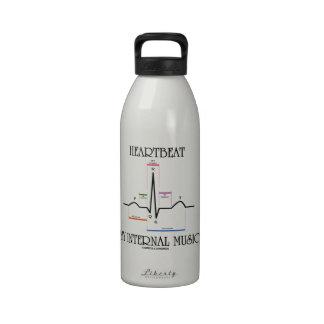 Heartbeat My Internal Music (Electrocardiogram) Water Bottles