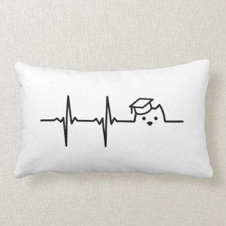 Heartbeat of Kitten Academy Pillow - Black logo