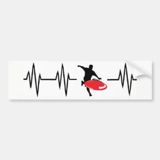 Heartbeat Red Disc Golf sticker