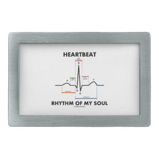 Heartbeat Rhythm Of My Soul Electrocardiogram Belt Buckles
