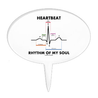 Heartbeat Rhythm Of My Soul (Electrocardiogram) Cake Toppers