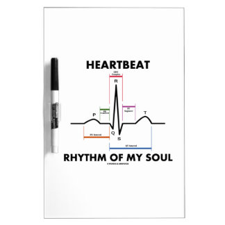 Heartbeat Rhythm Of My Soul (Electrocardiogram) Dry Erase Boards