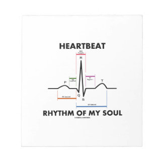Heartbeat Rhythm Of My Soul Electrocardiogram Memo Note Pads