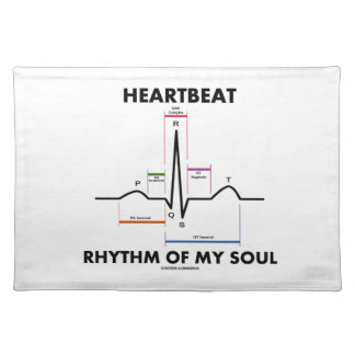 Heartbeat Rhythm Of My Soul Electrocardiogram Placemat