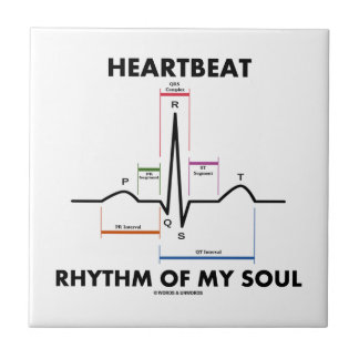 Heartbeat Rhythm Of My Soul (Electrocardiogram) Small Square Tile