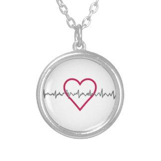 Heartbeat Round Pendant Necklace