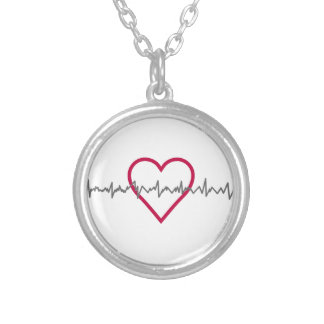 Heartbeat Silver Plated Necklace