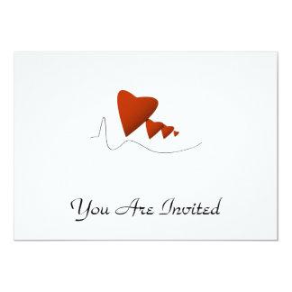 Heartbeats 13 Cm X 18 Cm Invitation Card