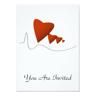 "Heartbeats 4.5"" X 6.25"" Invitation Card"