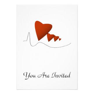 Heartbeats Personalized Invitation
