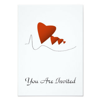 "Heartbeats 5"" X 7"" Invitation Card"