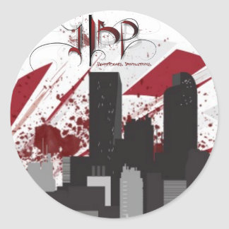 HeartBeats Productions Skyline Sticker