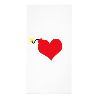HeartBomb Custom Photo Card