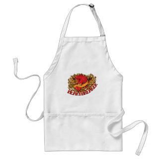 heartbreaker red bird tattoo style art standard apron