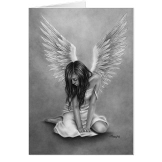 Heartbroken Angel Greeting Card