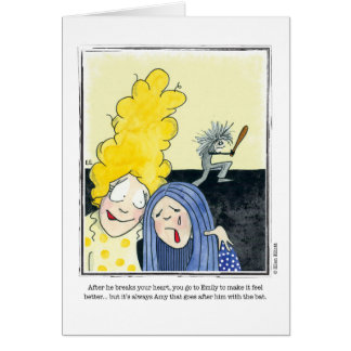 HEARTBROKEN cartoon by Ellen Elliott Greeting Card