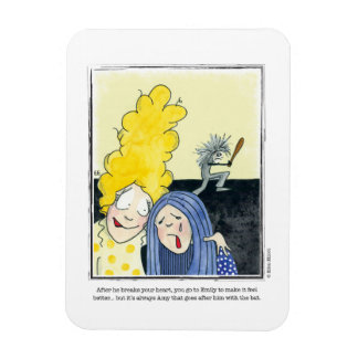 HEARTBROKEN cartoon by Ellen Elliott Rectangular Photo Magnet