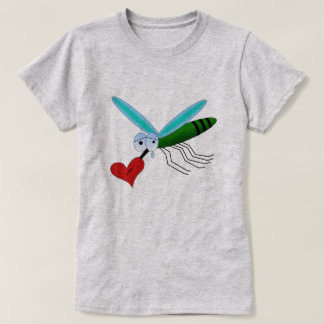 Heartbroken Mosquito With  Heart On His Proboscis T-Shirt
