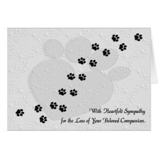 Heartfelt Dog or Cat Pet Sympathy Greeting Cards