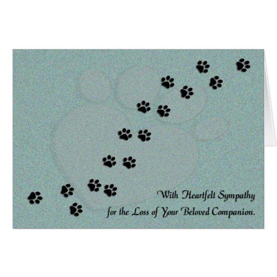 Heartfelt Dog or Cat Pet Sympathy Card