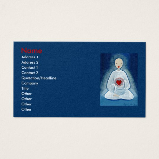 """Heartfelt Enlightenment"" Business Card"