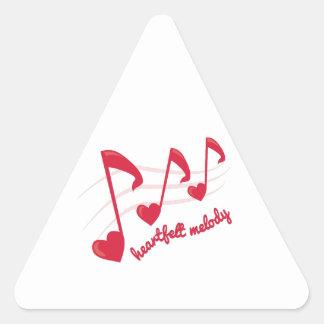 Heartfelt Melody Triangle Sticker