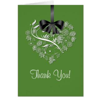 Heartfelt Thank You Card - fresh cut grass green