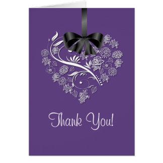 Heartfelt Thank You Card -plum