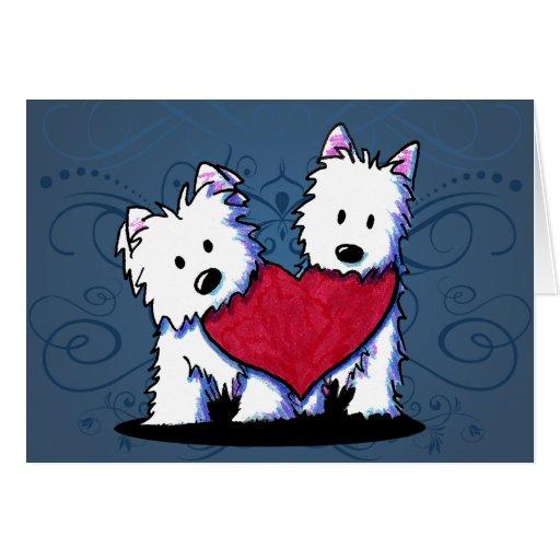 Heartfelt Westie Duo Card