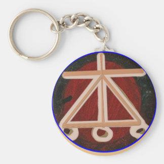 HEARTH - Karuna Reiki Healing Symbol Basic Round Button Key Ring