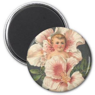 Heartiest Congratulations Flower Child 6 Cm Round Magnet