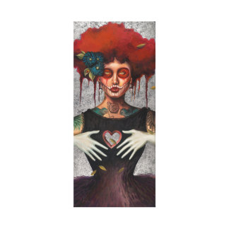 Heartless Day of the Dead by Sylvia Lizarraga Canvas Prints