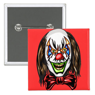 Heartless Evil Clown 15 Cm Square Badge